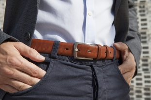 ceinture-cavalier-bleu-marron-look-depareille-boucle